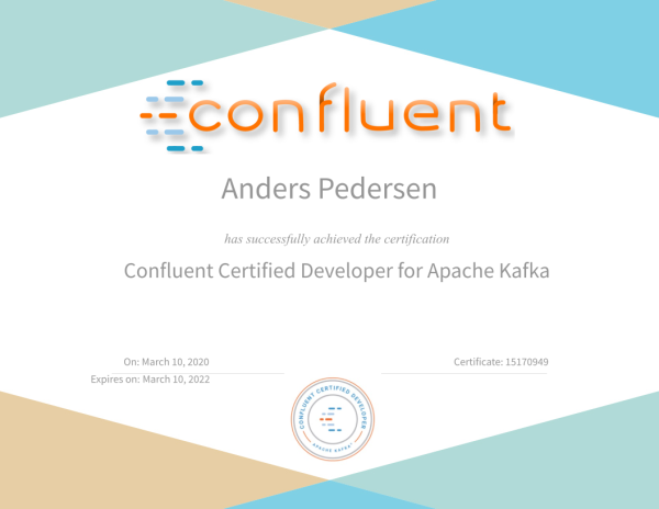 Confluent Certified Developer for Apache Kafka