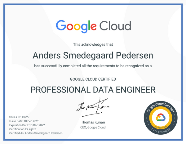 Google Cloud - Professional Data Engineer